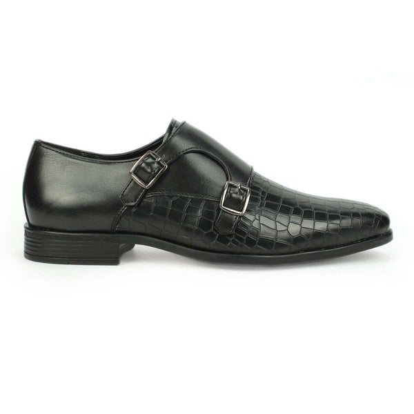 Black Double Monk Croco Formals