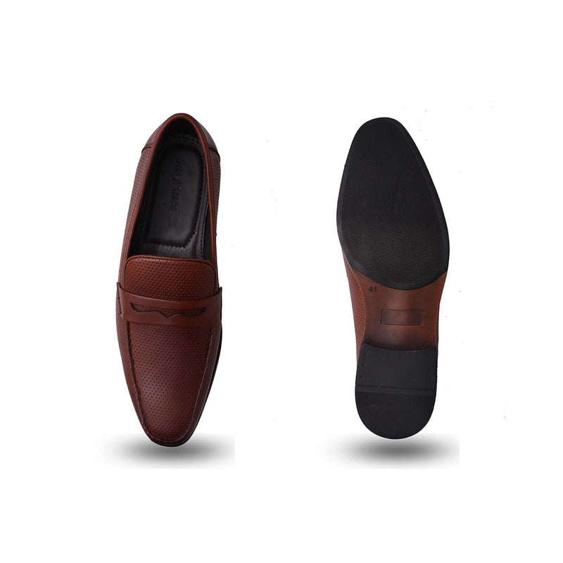 Tan Formal Slip-on