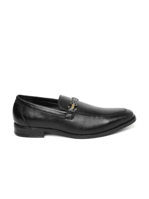 Black Two-Tone Tassel Loafers