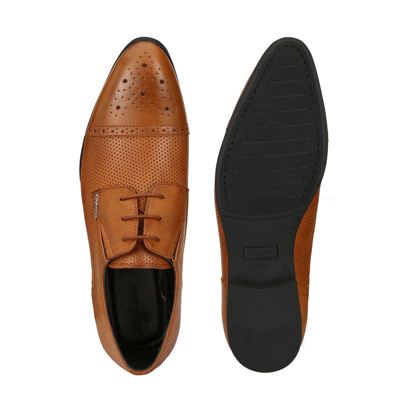 Tan Buckle Loafers
