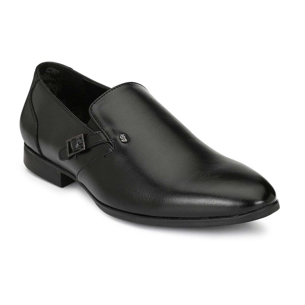 Black Buckle Slip-on Formals