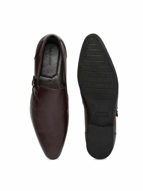 Brown Buckle Slip-on Formals