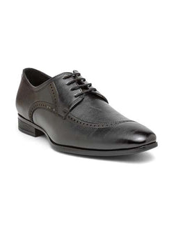 Black Semi-Brogue Lace-ups