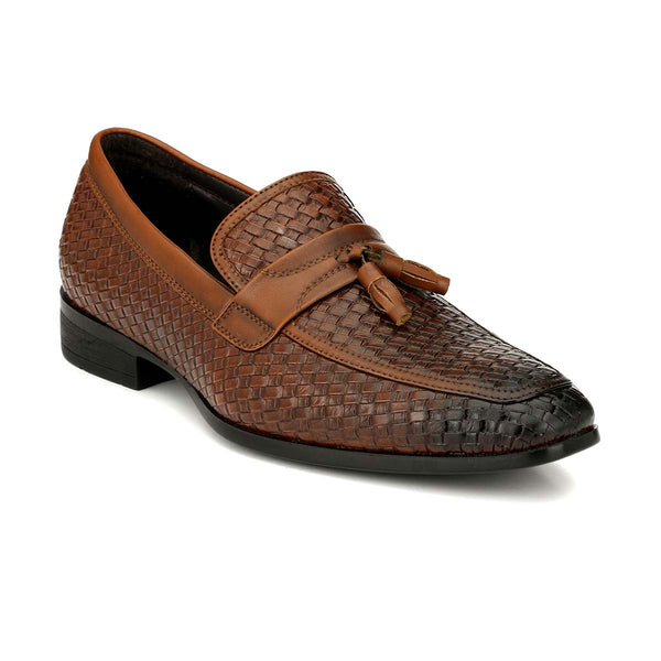 Brown Chatai Tassel Loafers