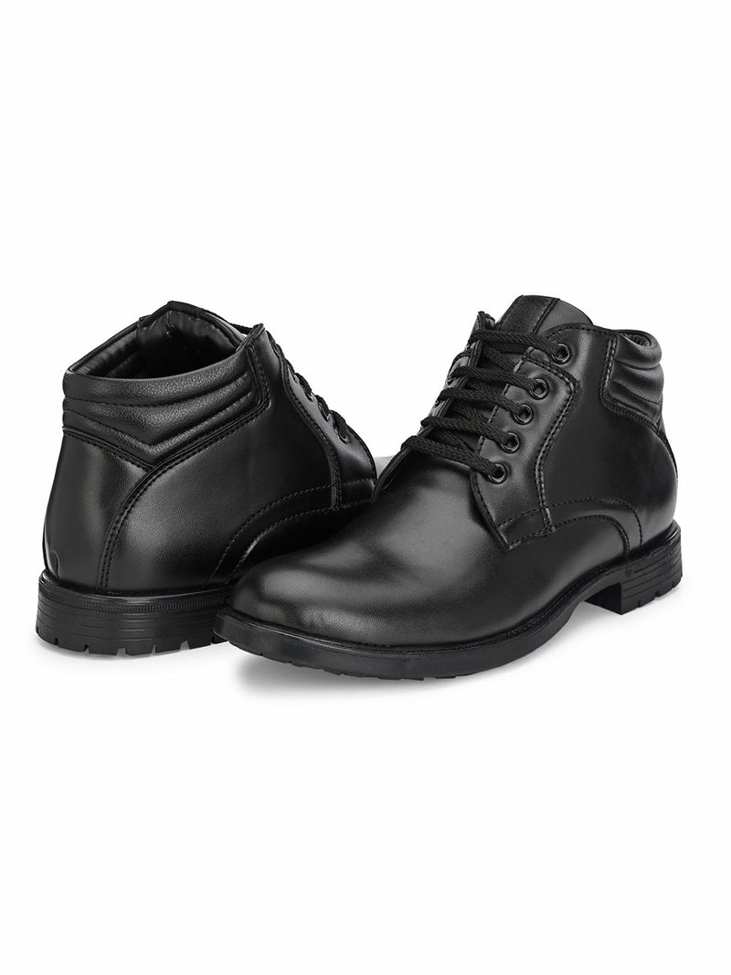 Jerry Lace-up Black Boots