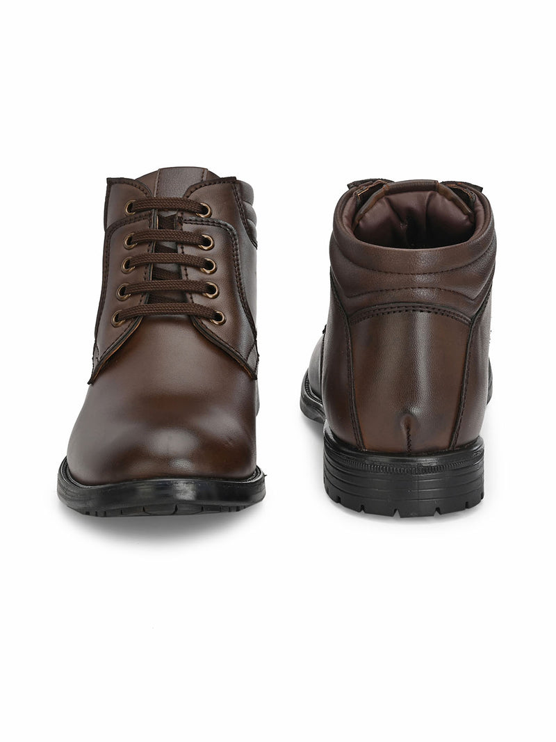 Jerry Lace-up Brown Boots