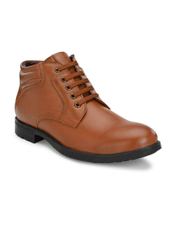 Jerry Lace-up Tan Boots