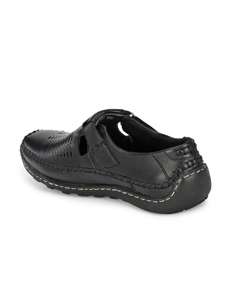 Black Casual Clog Sandals