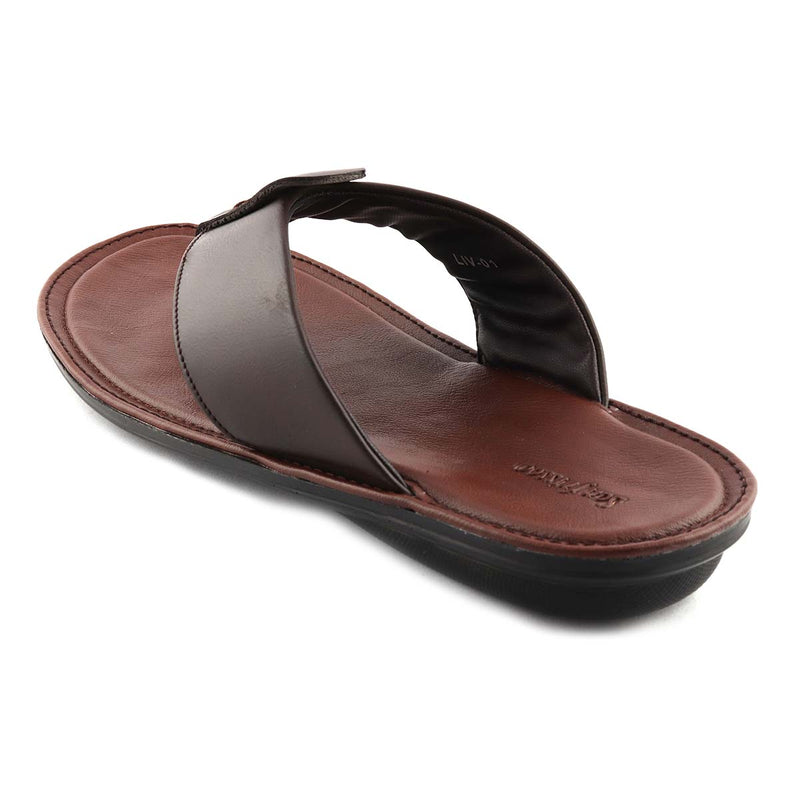 San Frissco Men's Brown Casual Slippers