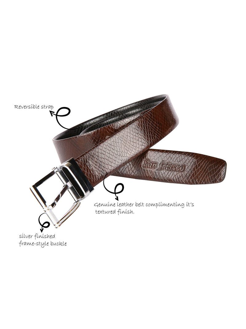Scale Patent Reversible Belt