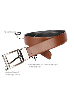 Tanned Textured Reversible Belt