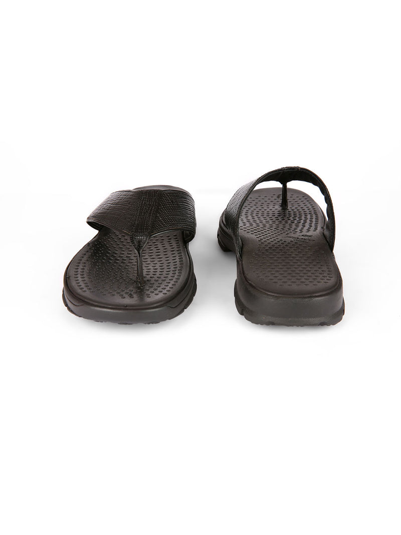 SF Black Comfort Slippers