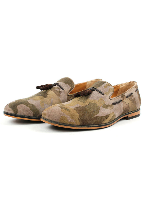 Camouflage Tassel Loafers