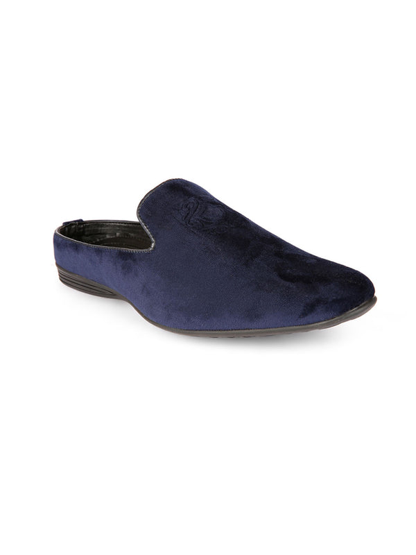 Luxe Midnight Blue Mules