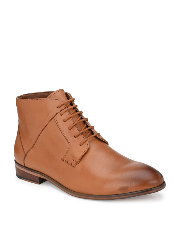 Blaze Tan Lace-Up Boots
