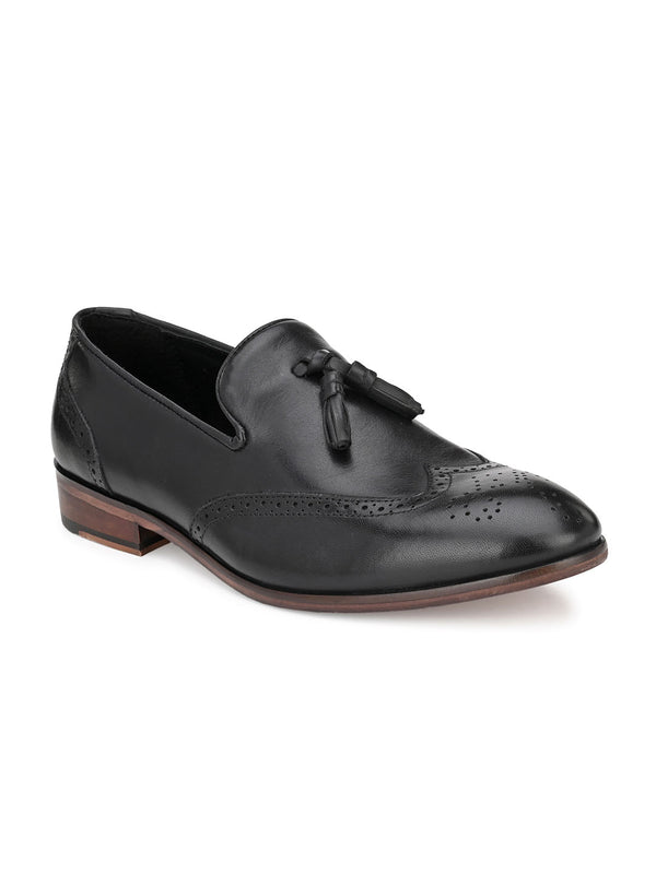 Bruce Black Tassel Loafers