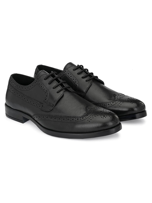 Darvey Black Brogues