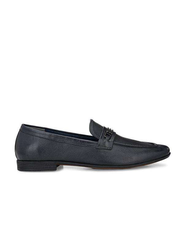Supple Blue Moccasins