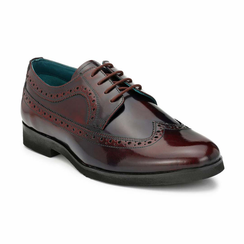 San Frissco Men Maroon Formal Shoes