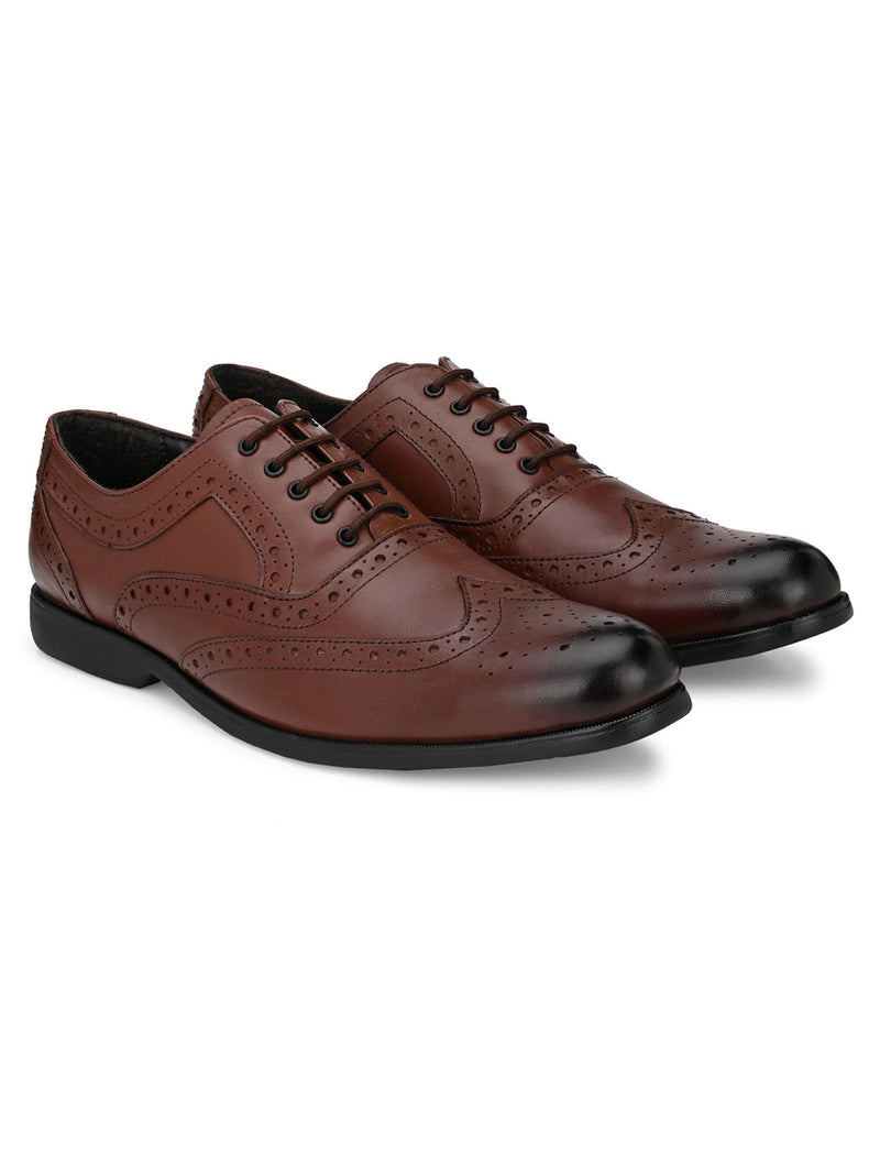 Darvey Tan Shortwing Brogues