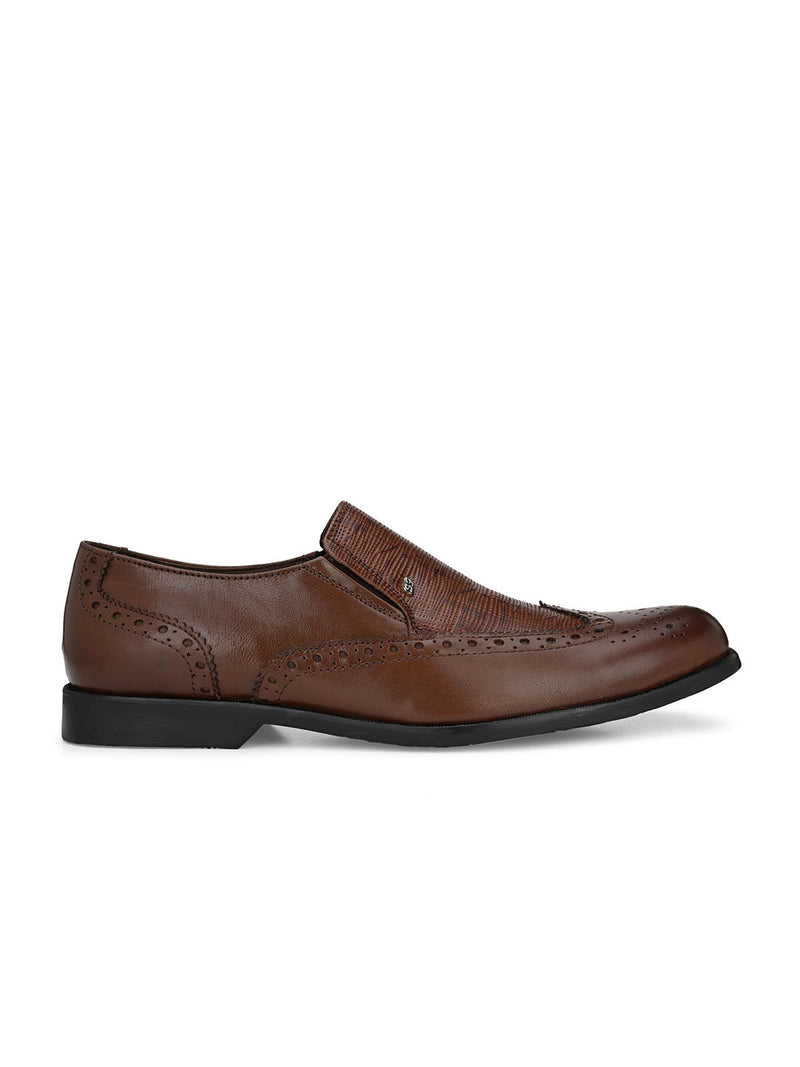 Gordon Textured Brown Moccasin