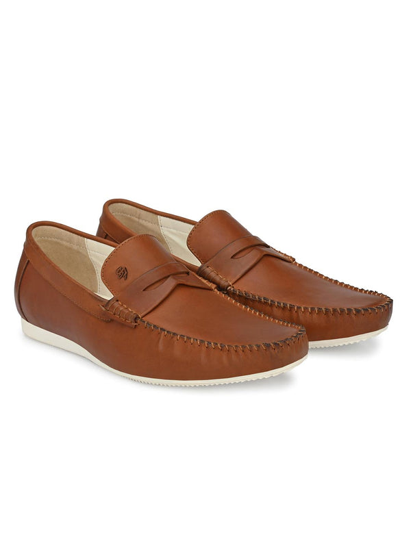 Cedar Brown Penny Loafers