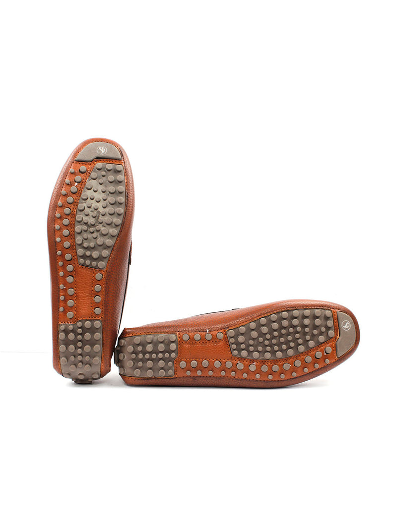 Bingo Tan Loafers with Buckle