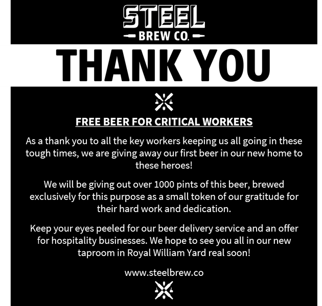 Free Beer For Key Workers