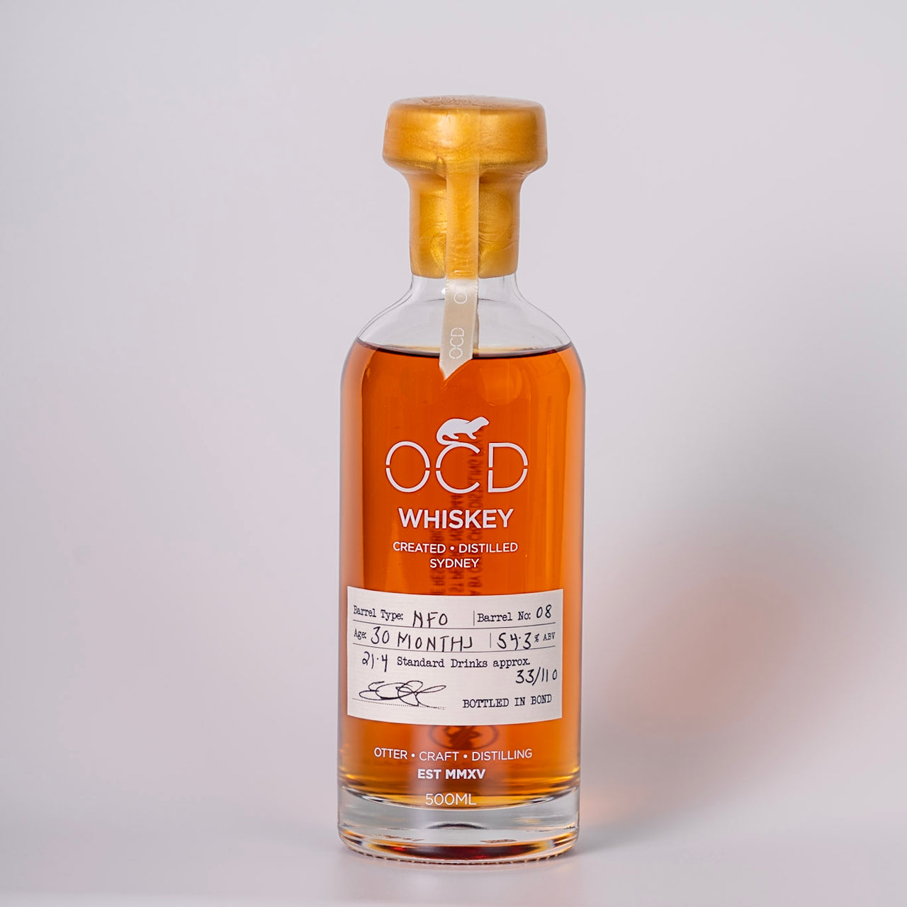 OCD Whiskey Limited Edition: Barrel 08 New French Oak