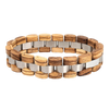 Trendy Wood & Steel Bracelet