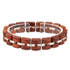 Red Wood & Steel Bracelet
