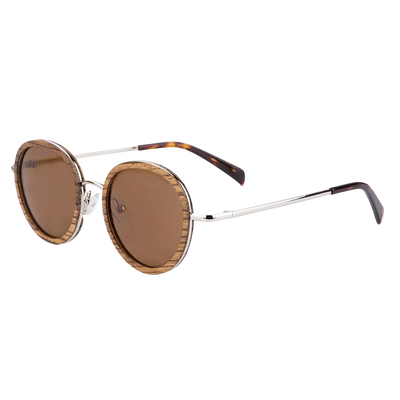 Round Frame Wooden sunglasses