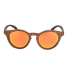 wooden sunglasses with orange lenses