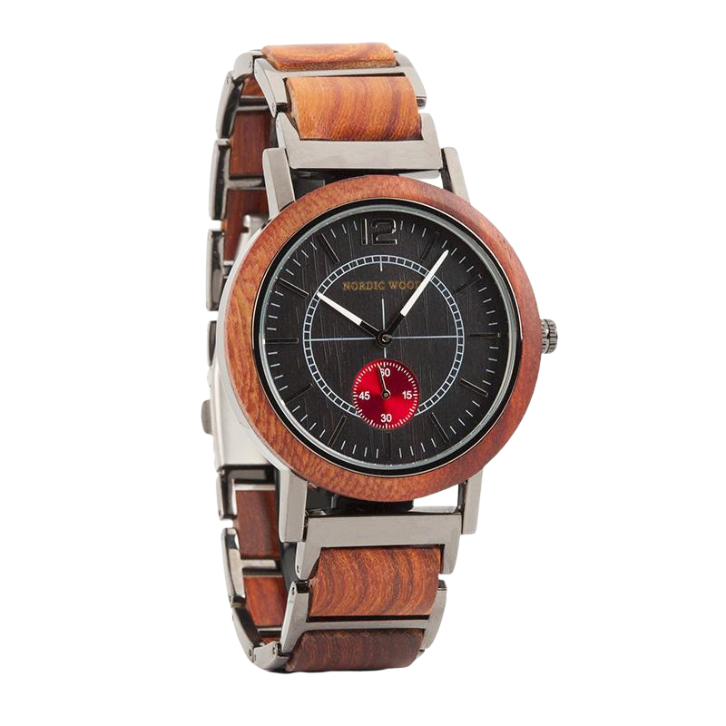 Red Wooden Watch