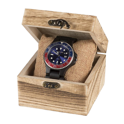 wood watch with box
