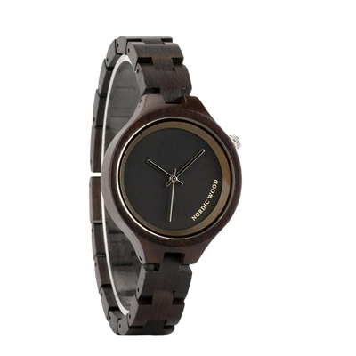 Black Wooden Watch for Women