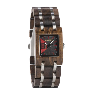 Square Dial Wooden Watch