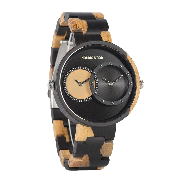 Black & Yellow Wooden Watch