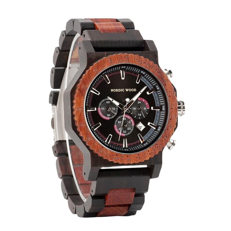 Men's Wooden Watch - <br/> The Ebony