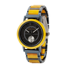 Steel and Wood Yellow Watch
