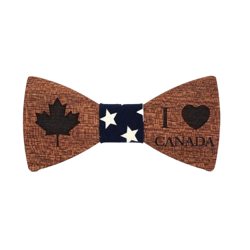 Canadian Wooden Bow Tie