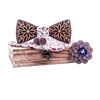 Wooden Bow Tie & Flowered Fabric