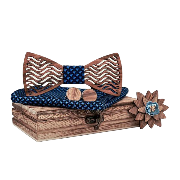 Wooden Bow Tie Box