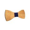 Dark Blue Wodden Bow Tie