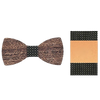 Wooden Bowtie with Suit Pocket