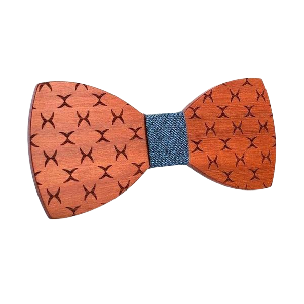 Patterned Wooden Bow Tie