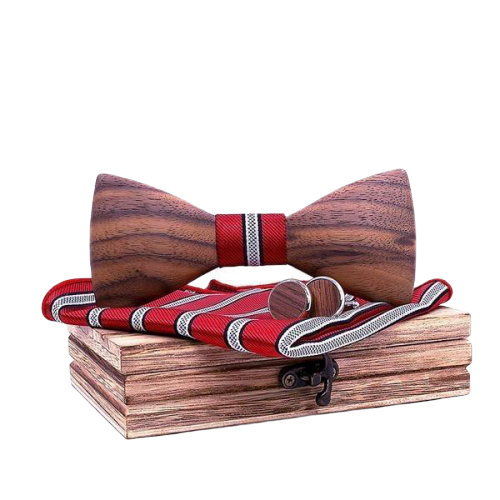 Red Bow Tie Set
