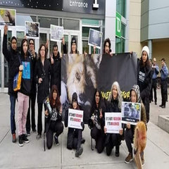 protest against fur in fashion