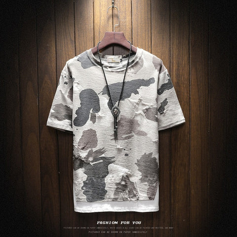 Men's Design Camouflage T-Shirt Short Sleeve