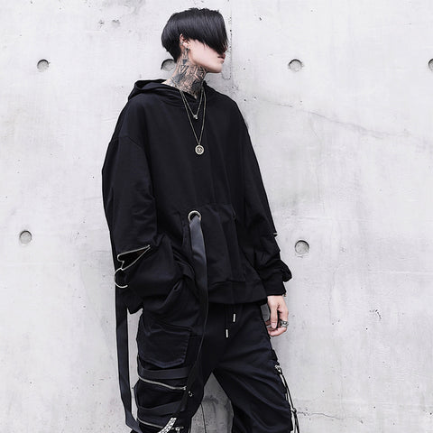 Men's Loose Hoodies Sweatshirts Hip-Hop  Style